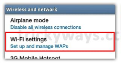 Android WiFi settings image